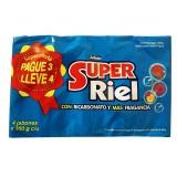 Jabon Super Riel con Bicarbonato y Fragancia 4und