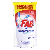 Fab Quitamanchas ropa blanca sin cloro
