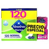 Protectores Nosotras Diarios Normal Tela 120und+30Multiestilo