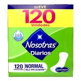 Protectores Nosotras Diarios Normal Tela 120und