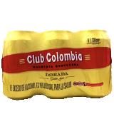 Six pack Cerveza Club Colombia Dorada