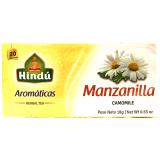 Aromáticas Hindú Manzanilla 20 Bolsitas