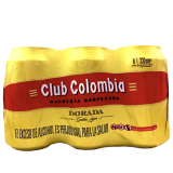 Six pack Cerveza Club Colombia Dorada