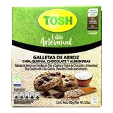 Galletas Tosh de Arroz, Chía, Quinua, Chocolate y Almendras