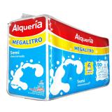 Leche  Semi-Descremada Alqueria six pack megalitro