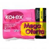 Protectores Ultra flexible más tampones Kotex mercado a domicilio en cali