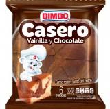 Ponqué Bimbo Casero Marmoleado Vainilla y Chocolate 6 Porc mercado a domicilio en cali