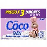 Jabon Coco Bebe x 3Und mercado a domicilio en cali
